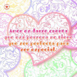 Linda Imagen De Corazones Enamorados Con Romantica Frase De Amor