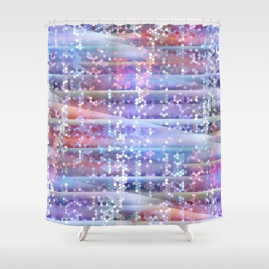 pattern, mosaic, abstract, digital, serie, https://society6.com/product/mosaic-pattern-blue-and-red_shower-curtain?curator=christinebssler