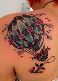 Most Beautiful Fly Away Tattoo On Back