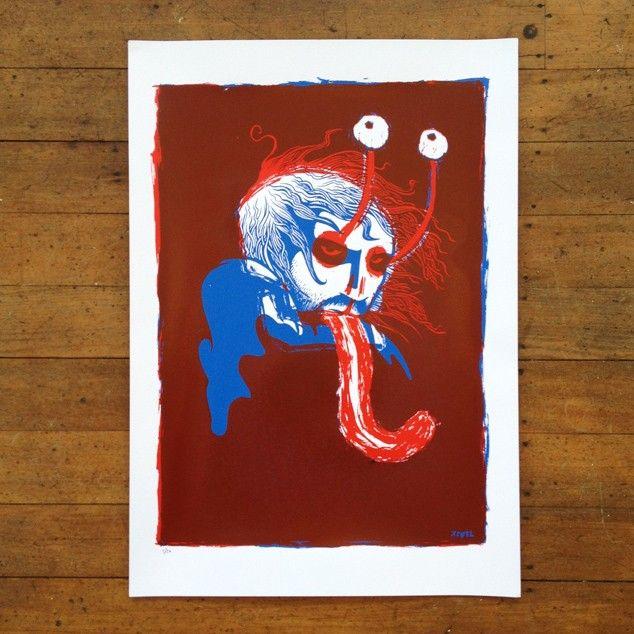 """""""Eye Balls"""" Screen Print by Toby Morris"""