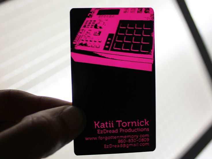19 best plastic business cards images on pinterest plastic black plastic business card laser engraved to hot pink reheart Gallery