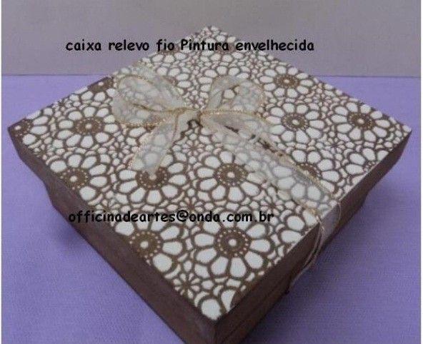 Atacado - Embalagem Ecológica para o Natal  - Caixa Relevo 16x16x5 -Mínimo 10 peças