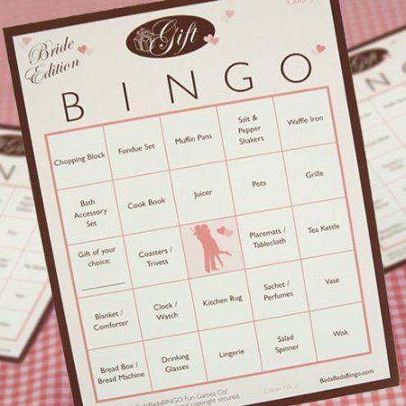 "Best Bridal Shower Games  Toilet Paper Bride, ""Bride, Groom, Wedding"", Gift Bingo  http://seekyt.com/best-bridal-shower-games/"