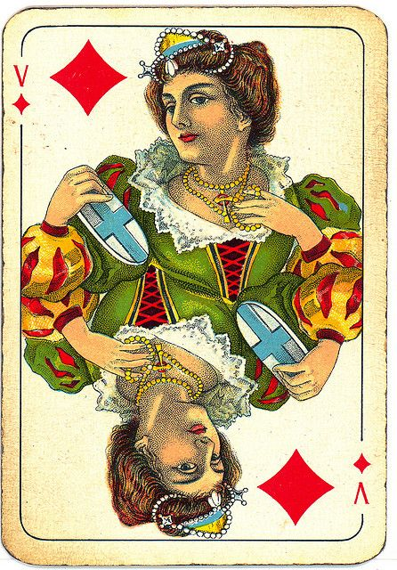 Dutch playing cards from 1920-1927: Queen of Diamonds by Michiel2005, via Flickr