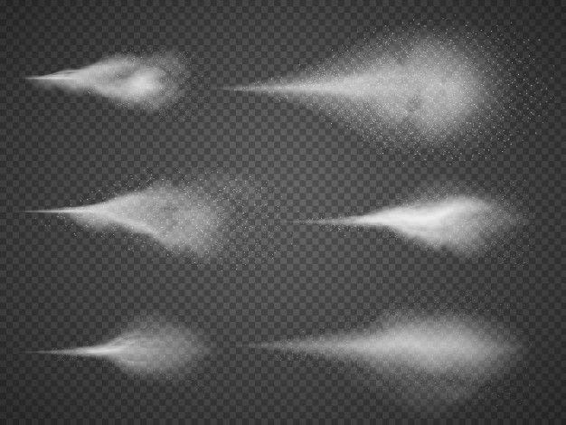 Zestaw Powietrza Mgly Rozpylonej Wody Opryskiwacz Mgla Odizolowywajaca Na Czarnym Przejrzystym Tle Mists Fog Water Spray
