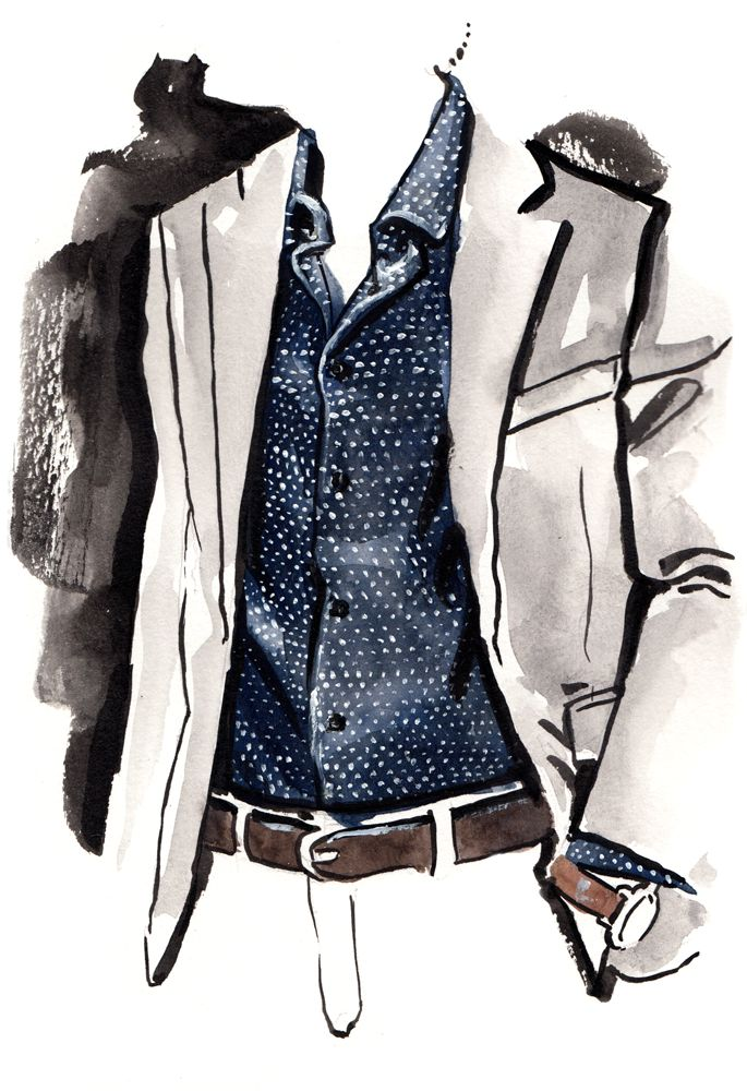 97 best Vogue for men illustrations images on Pinterest ...