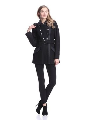 Buffalo David Bitton Women's Double-Breasted Military Coat