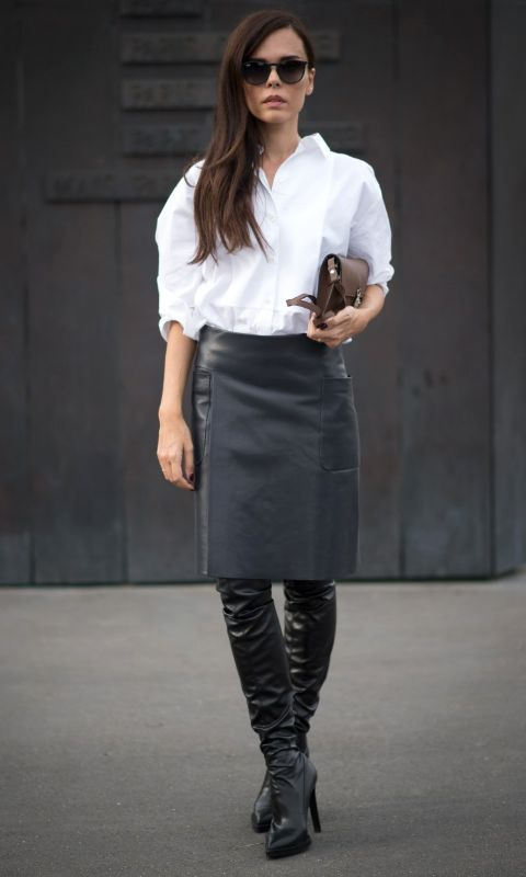 14 Fresh Ways To Wear Over The Knee Boots This Fall