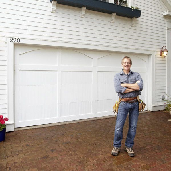 Get the look of a traditional carriage-house garage door for a fraction of the retail price. With these DIY plans you can make your own using a standard hardboard garage door.