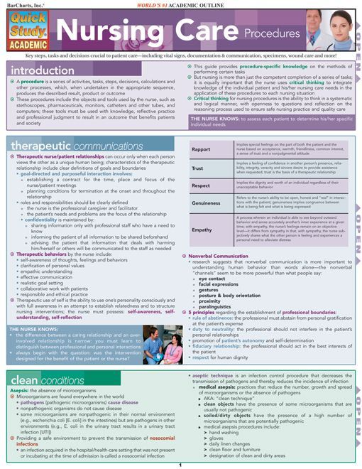 Nursing Care Procedures Download this review guide