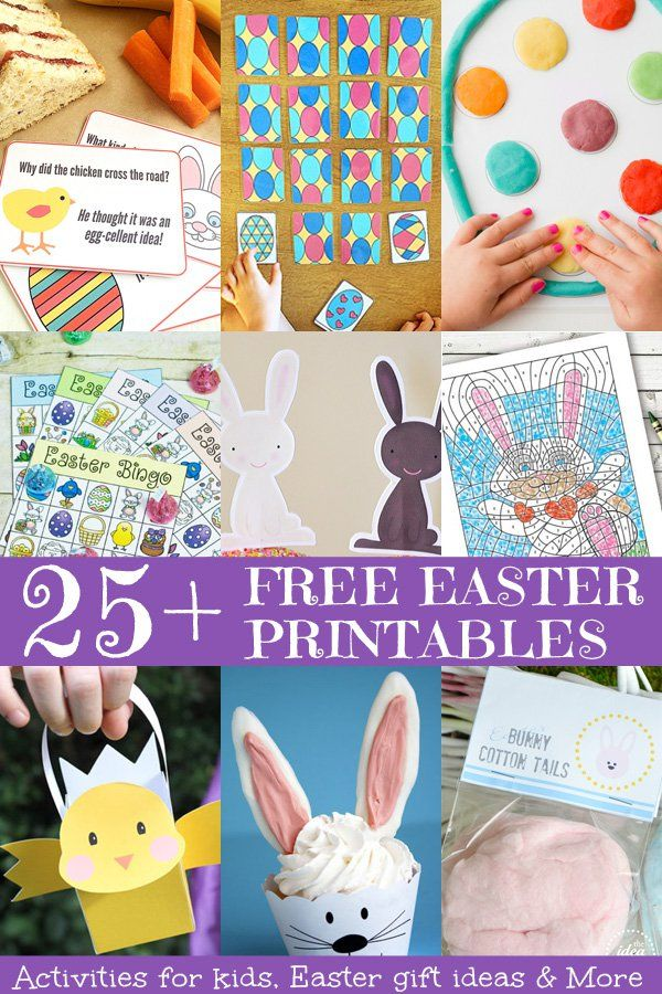 Get ready for Easter with these fabulous, free Easter printables. Includes activities for kids and fun gift ideas.