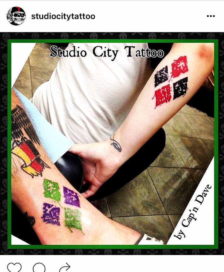 Harley Quinn tattoo joker tattoo diamonds suicide squad couples tattoo