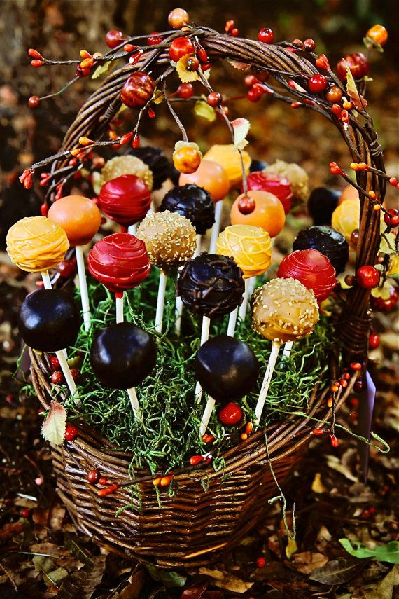 Fall Color Cake Pops  Assorted Mix by sweetpopsshop on Etsy, $25.00