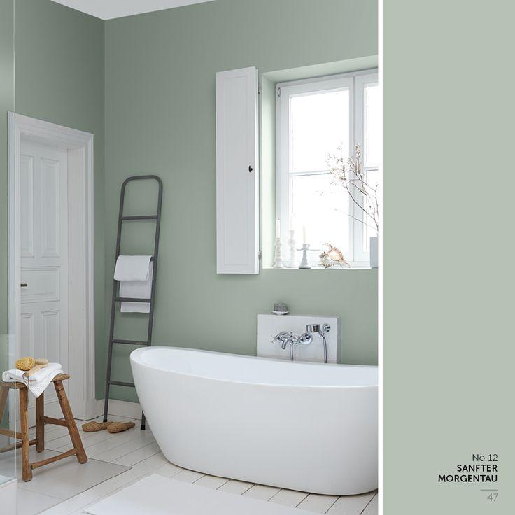 Die besten 25+ Feine farben Ideen auf Pinterest Alpina wandfarbe - schlafzimmer mit badezimmer