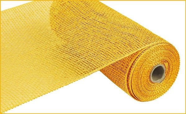Yellow Poly Burlap Mesh 10 X 10 Yard Roll Rp810029 Etsy Deco Mesh Wreath Supplies Burlap