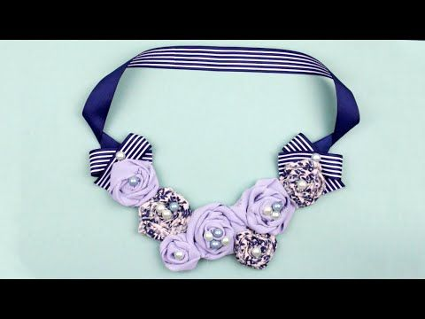 This time we will show you how to make a nice floral necklace from several types of fabric. This DIY rose necklace can become a cute accessory idea for your every day outfit! #diynecklace #roses #fabric