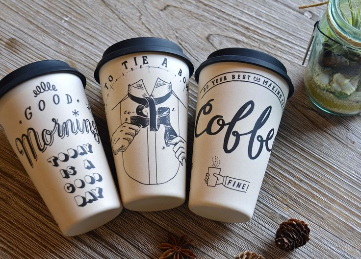 CHALK BOY_Coffee Tumbler - 大人のかわいい雑貨のお店『Belle Gisele ベル ジゼル』/ヨーロッパやアメリカのアンティークやヴィンテージとセレクト雑貨