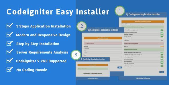 Codeigniter Installer - Version 2.0 / 3.0 Easy Installer - http://codeholder.net/item/php-scripts/codeigniter-installer-easy