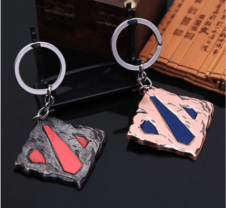 Dota 2 Steel Logo Key Chain