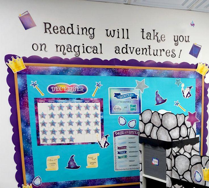 Mystical Magical Calendar Set Bulletin Board Reading