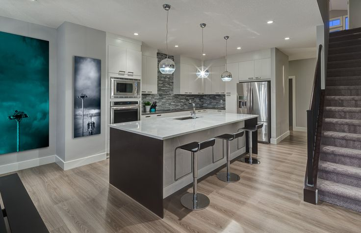 11 best showhome the riverfront images on pinterest for Kitchen designs calgary
