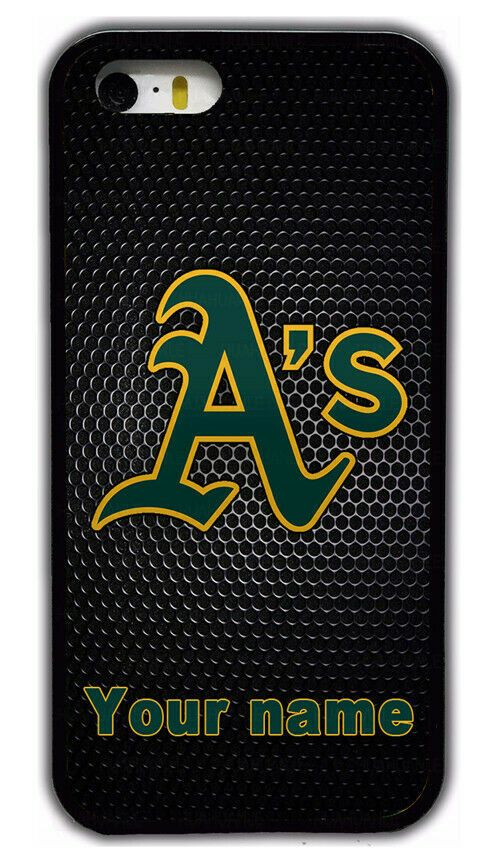 innovative design 6ab01 bda1e Custom Oakland Athletics Personalised Name Rubber Phone Case For ...