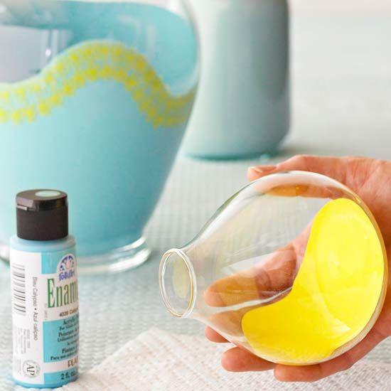 Paint-Coated Vase, Step 2: Crafts Ideas, Glasses, Gifts Ideas, Diy Crafts, Diy'S, Paintings Vase, Painted Vases, Diycrafts, Diy Vase