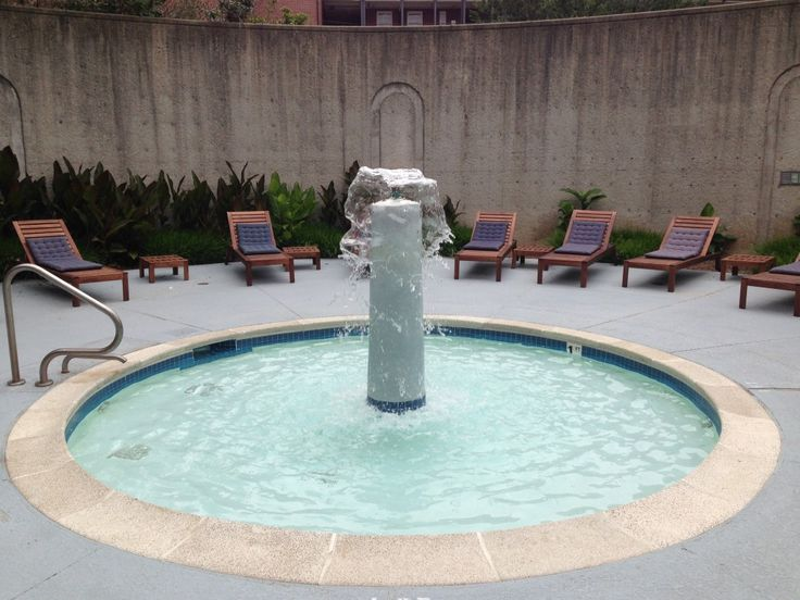 Cute Pool And Fountain Combo For An Interior Courtyard