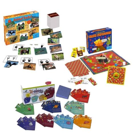 Family Science Games for 40% OFF! Includes THREE: Animal Tracks, Math Explosion, and Sci-ology! GREAT gift for a family or classroom!