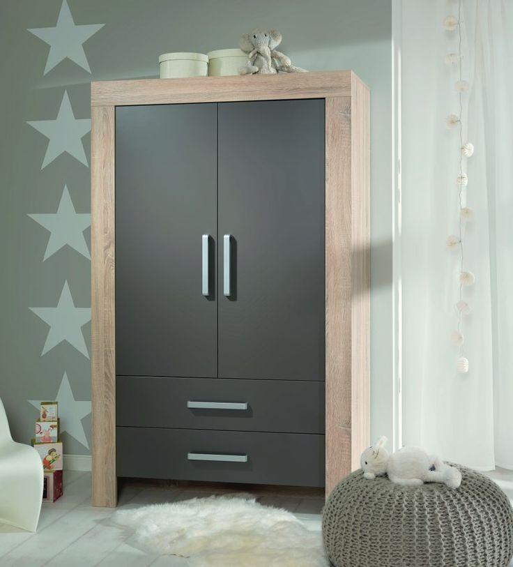 kleiderschrank matilde 2 t rig wildeiche nachbildung front in lava kleiderschrank mit farbe. Black Bedroom Furniture Sets. Home Design Ideas