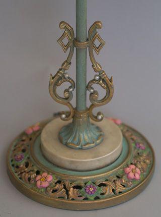 228 best antique bridge arm floor lamps images on pinterest bead close up of antique bridge lamp base aloadofball Image collections