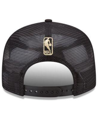 New Era Golden State Warriors Metal Mesh 9FIFTY Snapback Cap - Black Adjustable