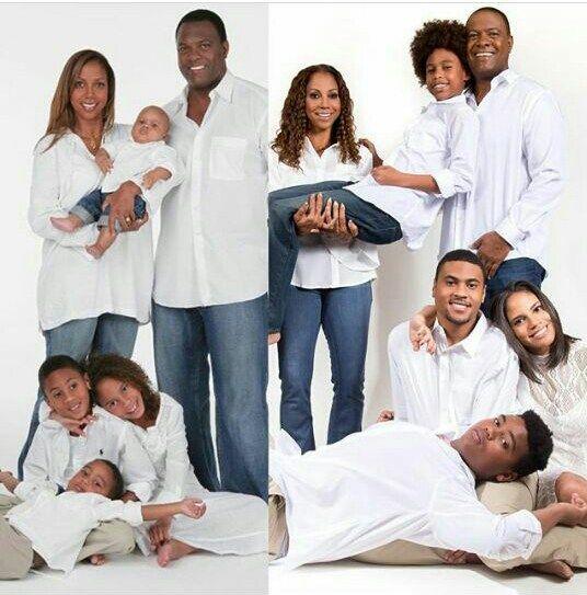 Holly Robinson And Rodney Peete Recreates Family Photo 15 Years Later