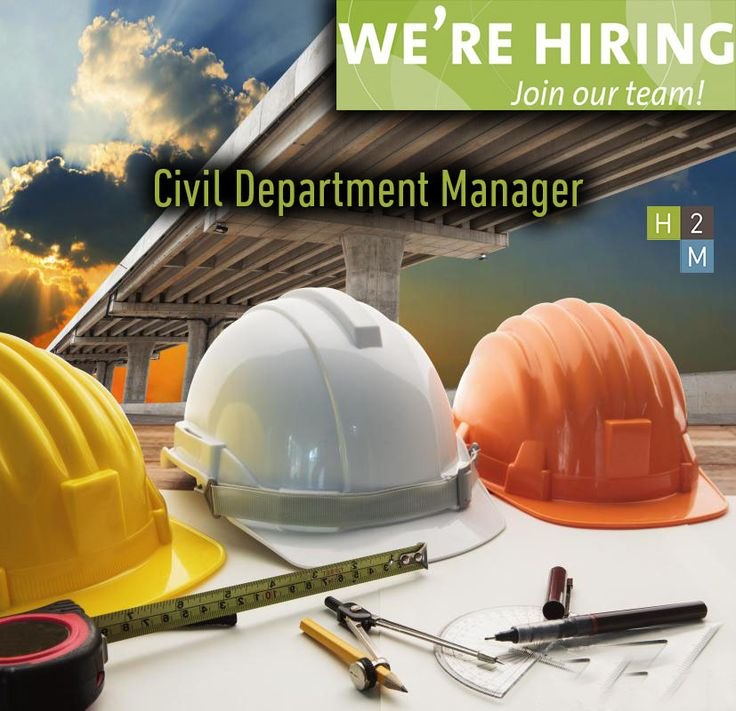 We're Hiring! Civil Department Manager! Location: Parsippany NJ! Job Description: Oversee and manage the NJ Civil Engineering Team. Work with firm management to establish and execute financial performance goals. Create a departmental structure that enables the civil engineering group to operate effectively in various markets.
