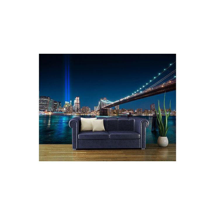 WTC emléke. Gyönyörű éjszakai fotótapéta: a Word Trade Center emlékére létrehozott fénynyalábok