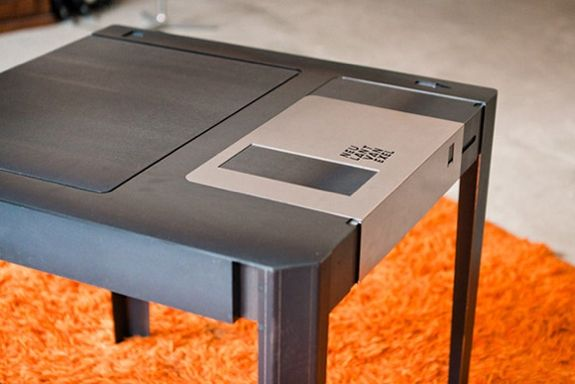 """Furniture For Geeks: A coffee table inspired by a 3.5"""" floppy disk."""