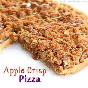 Apple Crisp Pizza   STUFF!!!!!   Pinterest   Apple Crisp Pizza, Apple ...