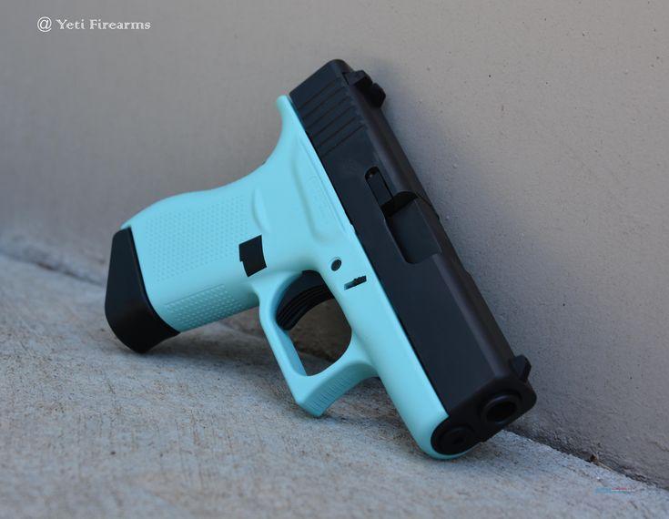 X-Werks Tiffany Blue Glock 43 9mm No CC Fee 2 Mags  Guns > Pistols > Glock Pistols > 43