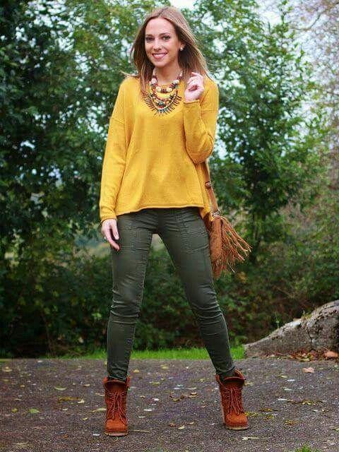 17 mejores ideas sobre Pantalones Color Mostaza en Pinterest | Pantalones de color mostaza ...