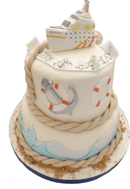 Hunkydory Cakes :: Party Cakes :: Cruise Themed Cake Cake. Something like this would be perfect for mom's retirement party