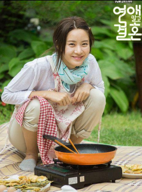 tvN Marriage, Not Dating - Han Groo enjoyed making pancakes.