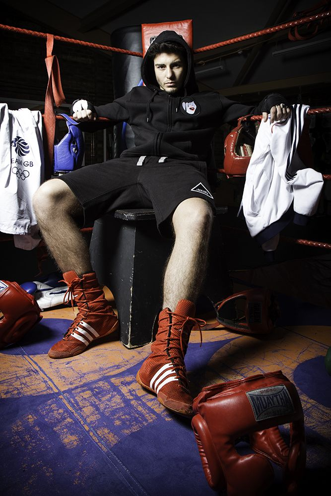 Team GB Boxer Josh Kelly wearing our new Droplet Face hoodie and Wasted Heroes shorts.   www.wastedheroes-shop.com