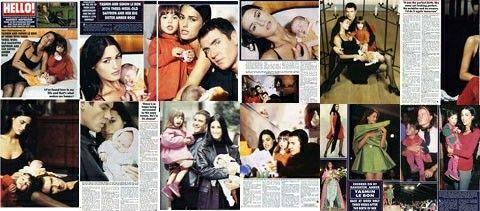 Yasmin, Simon, Amber and Saffron Le Bon, Hello Magazine