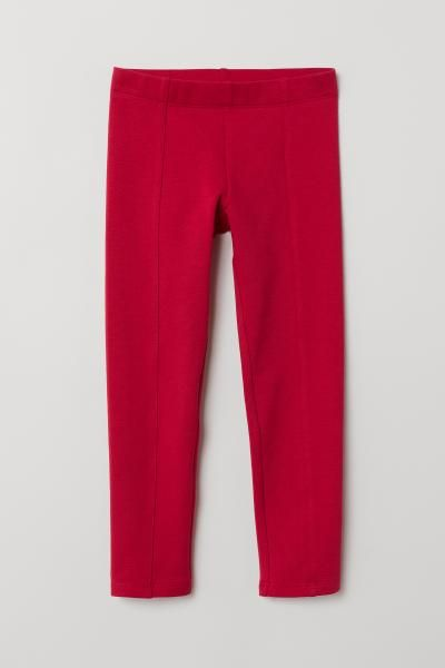 bacb15b352108 H&M Thick Jersey Leggings - Red | Stuff for Fi | Leggings, Pajama ...