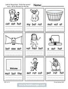 Kindergarten CVC Word Worksheets Printables