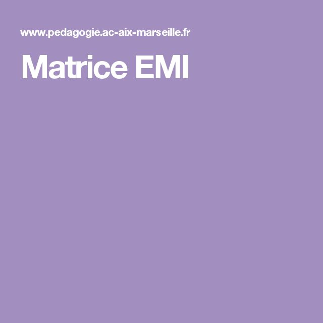 Matrice EMI