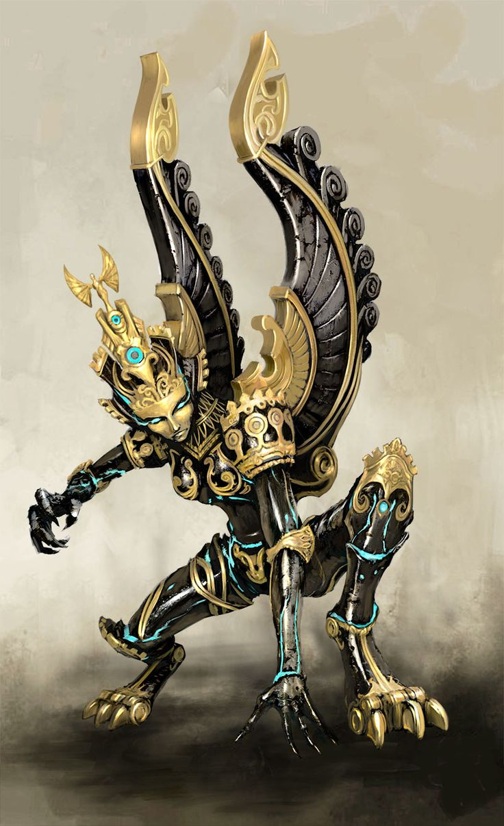 Mecha of the Day:Obsidian Gargoyle (Heroes of Might and Magic VII) by m0zch0ps