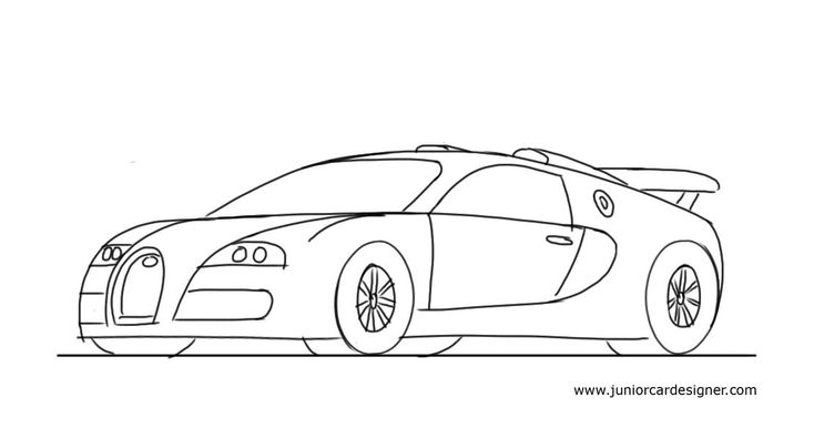 simple coloring pages cars - photo#28