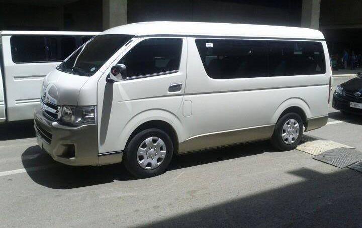 Toyota Hiace Gl Grandia. Luxurious Van Rental in Cebu City.