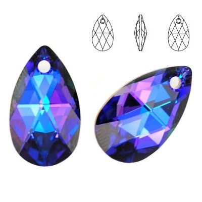 6106 Pear-shaped 28mm Heliotrope  Dimensions: height - 28,0mm Colour: Crystal Heliotrope 1 package = 1 piece